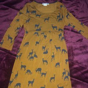Deer print dress